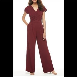 GAL MEETS GLAM NWT oxblood jumpsuit size 12